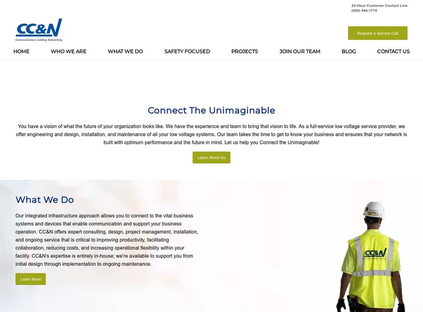 CC&N Inc homepage screenshot