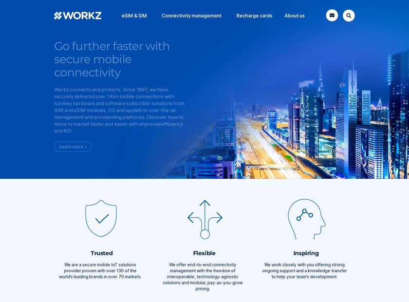 Workz.com homepage screenshot