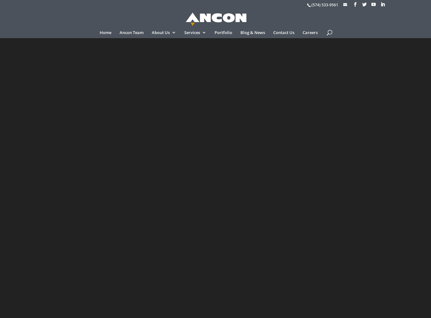 ANCON Construction Company Inc homepage screenshot