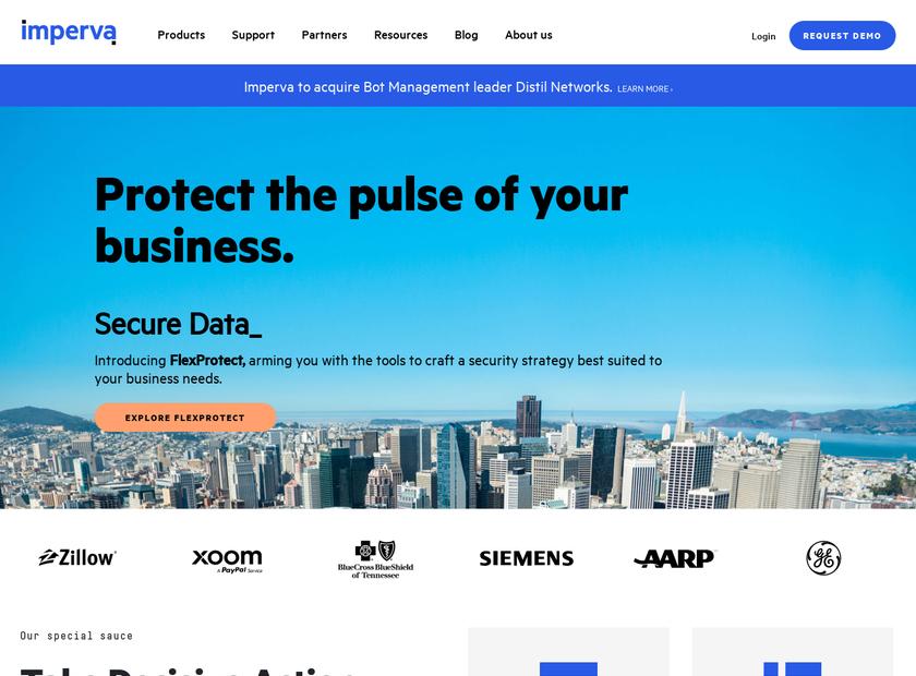 Incapsula Inc homepage screenshot