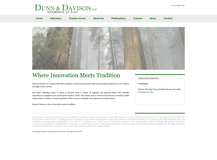 Dunn & Davison LLC homepage screenshot