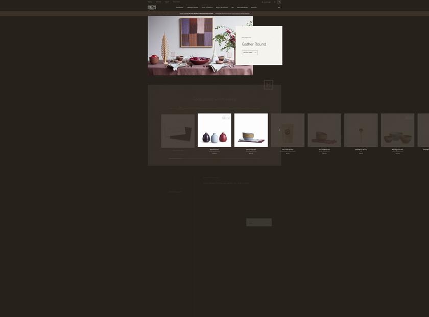 Heath Ceramics homepage screenshot