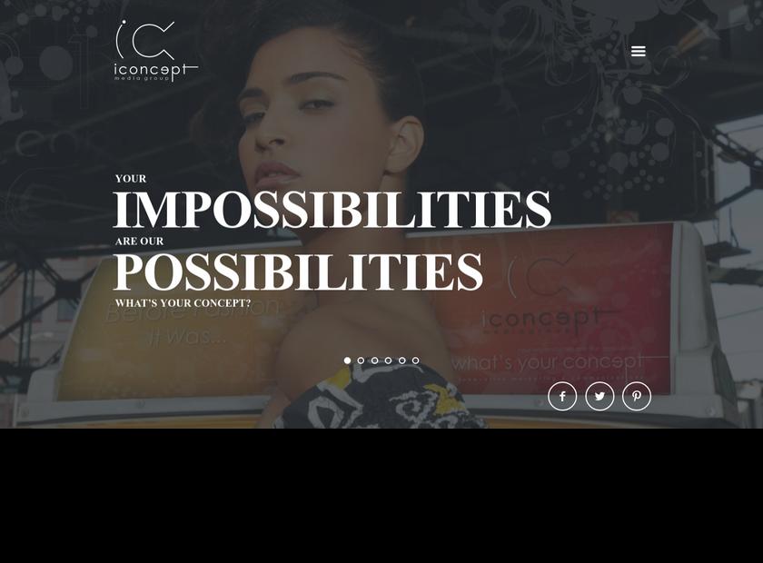 iConcept Media Group & AMEDZEKOR Global Inc homepage screenshot