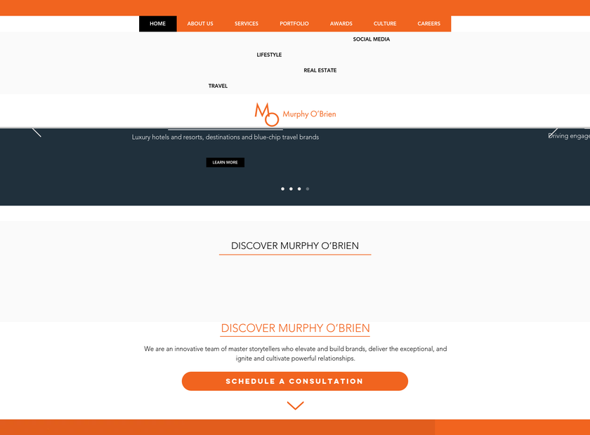 Murphy O'Brien , Inc. homepage screenshot