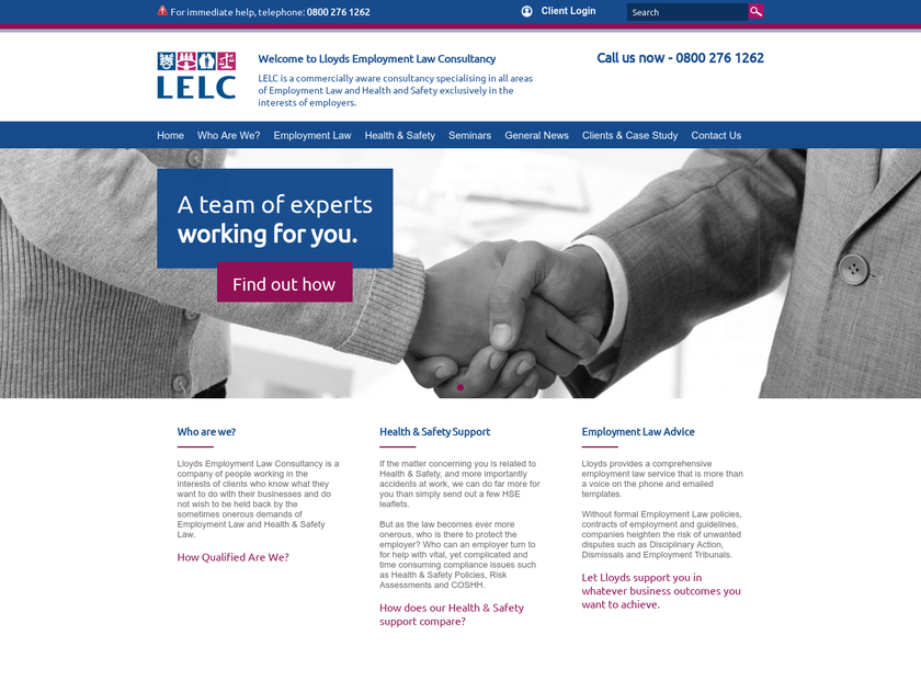 Lloyds Employment Law Consultancy Ltd homepage screenshot