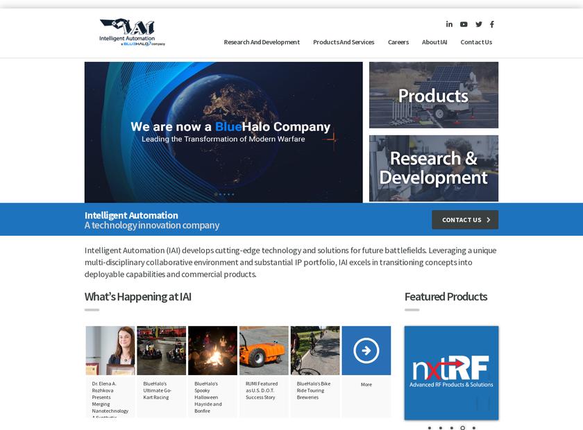 Intelligent Automation Inc homepage screenshot