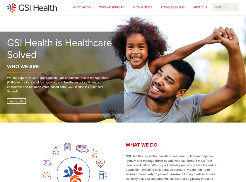 GSI Health LLC homepage screenshot