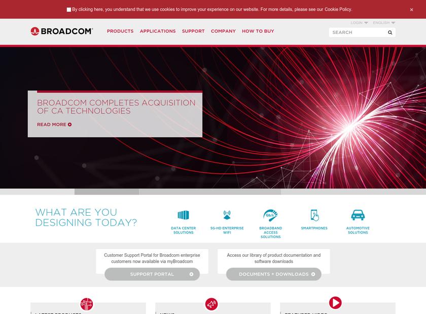 LSI Logic Corporation homepage screenshot