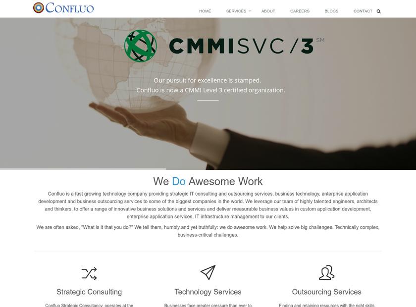 Confluo Inc homepage screenshot