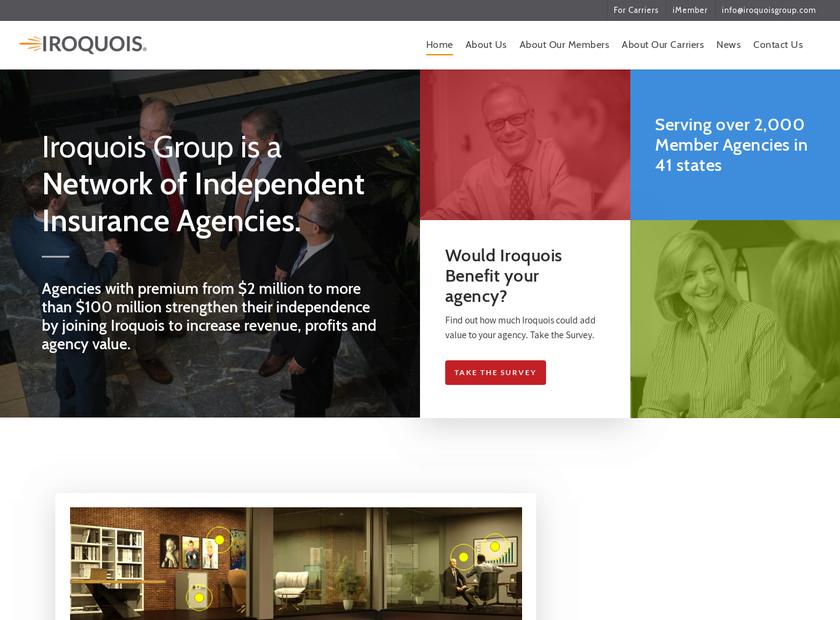 Iroquois Group Inc homepage screenshot