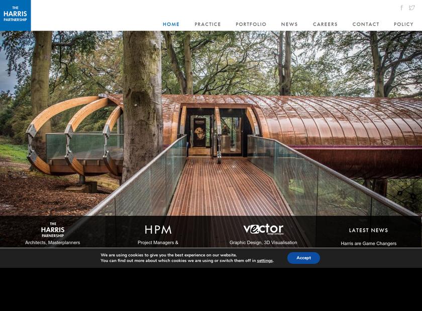 The Harris Partnership Ltd homepage screenshot