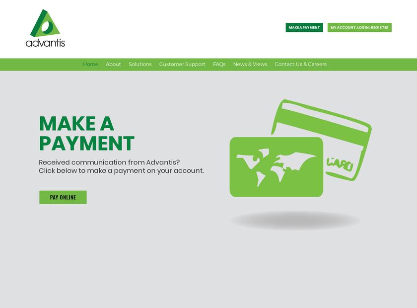Advantis Credit Ltd homepage screenshot