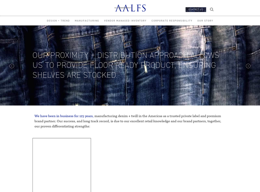 Aalfs Manufacturing Inc. homepage screenshot