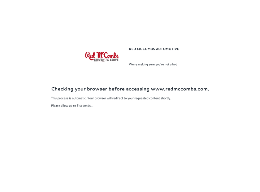 Red McCombs Scion homepage screenshot