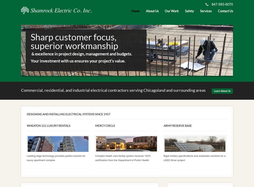 Shamrock Electric Inc homepage screenshot