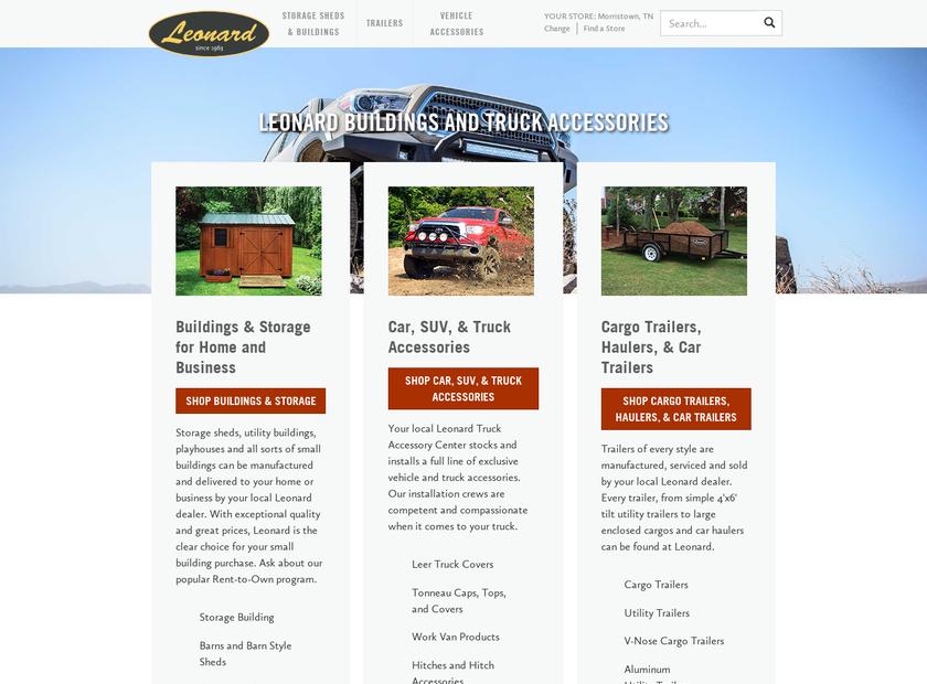 Leonard LLC homepage screenshot