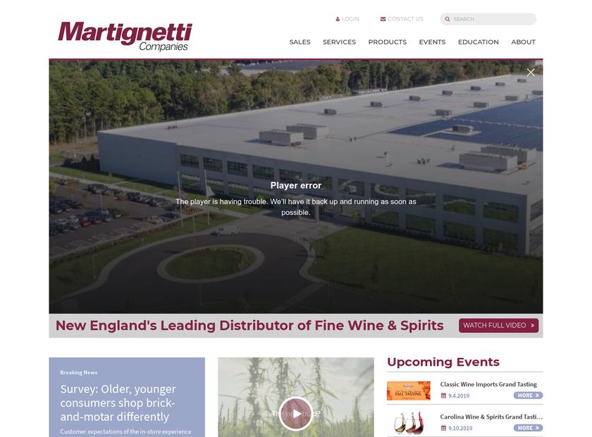 Martignetti Companies homepage screenshot