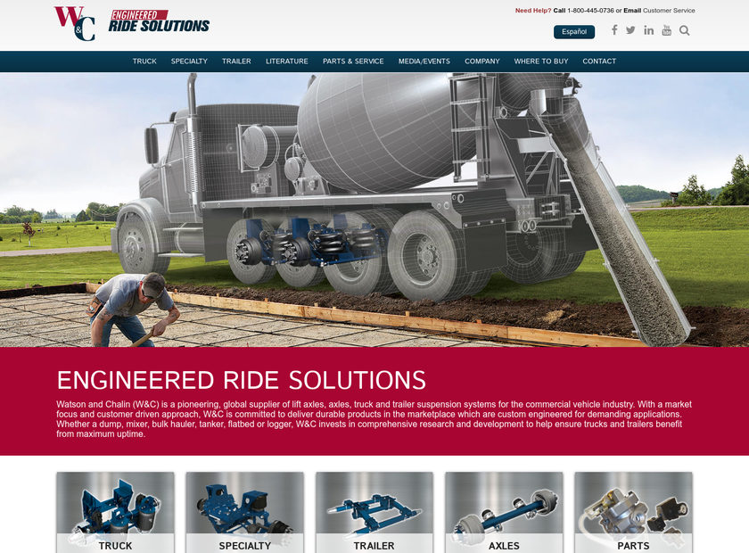 Watson & Chalin Mfg Inc homepage screenshot