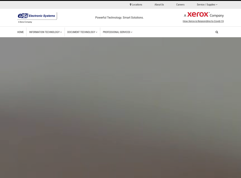 Electronic Systems Inc homepage screenshot