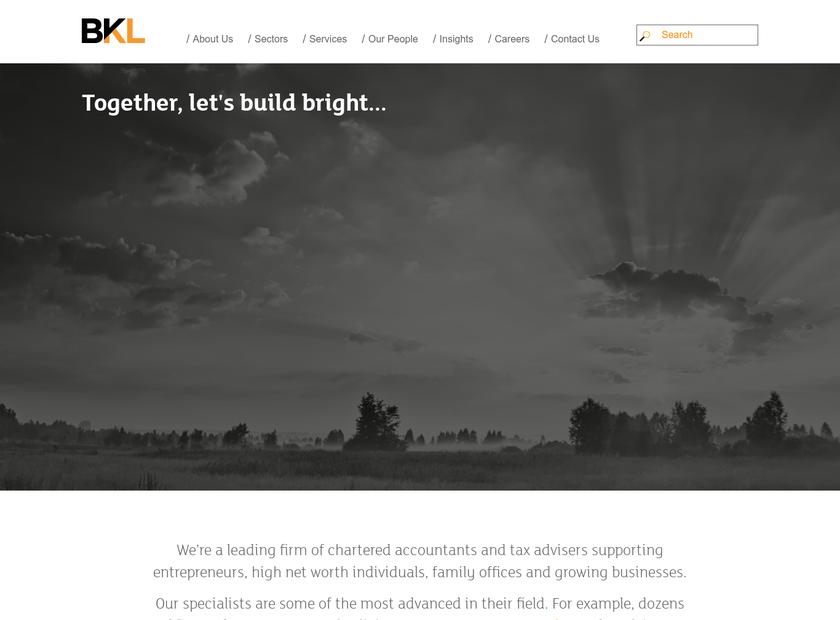 Berg Kaprow Lewis LLP homepage screenshot