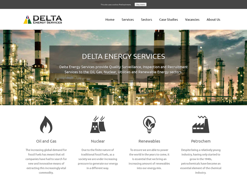 Delta Energy Services AS homepage screenshot