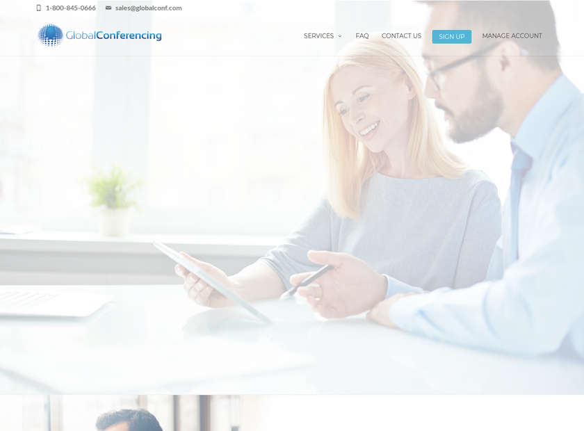 Global Conferencing Solutions Inc homepage screenshot