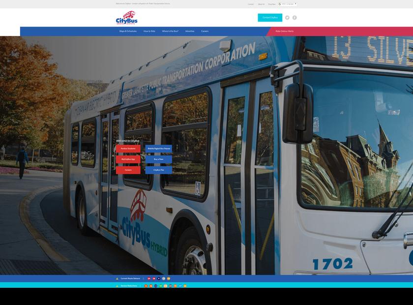 CityBus homepage screenshot