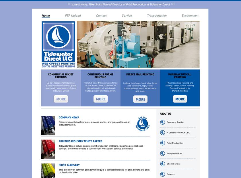 Tidewater Direct LLC homepage screenshot