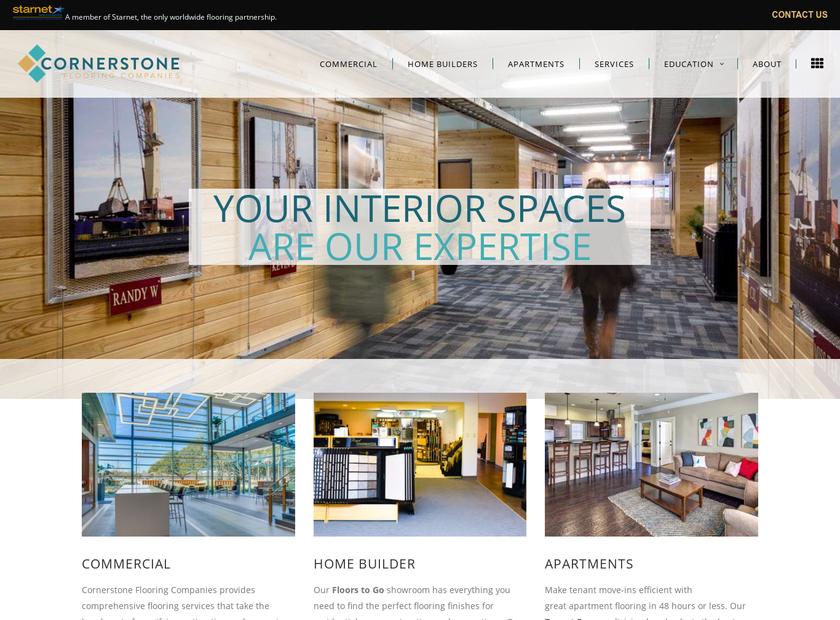 Cornerstone Commercial Flooring homepage screenshot