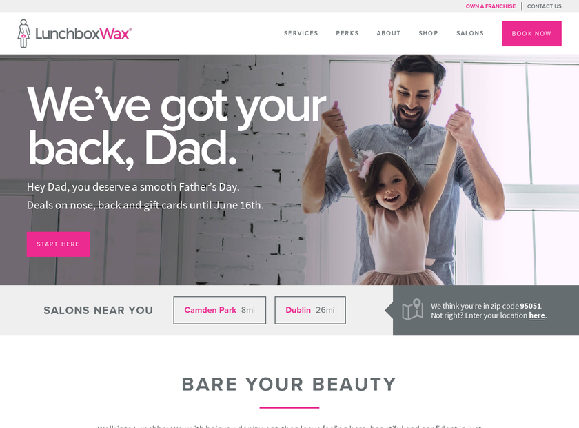 LunchboxWax homepage screenshot