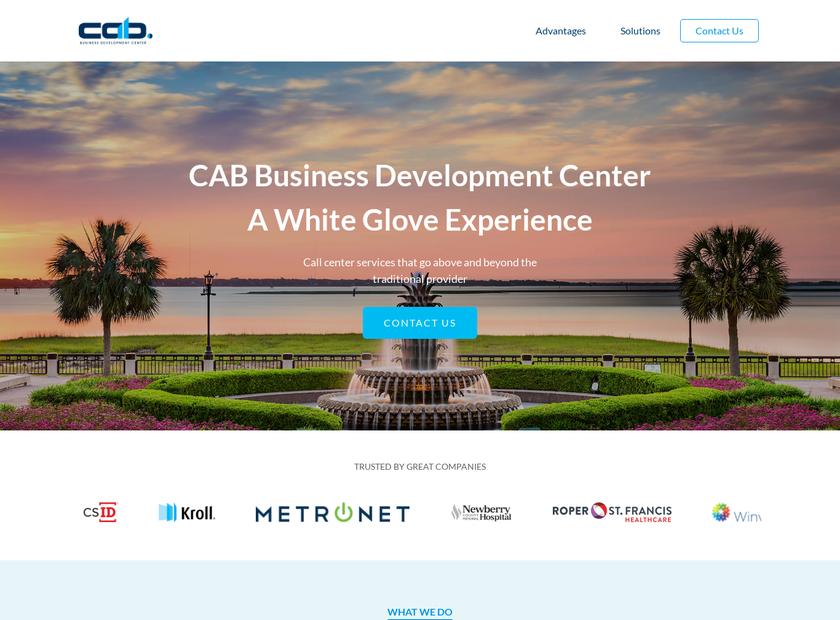 CAB Receivables Management Company homepage screenshot
