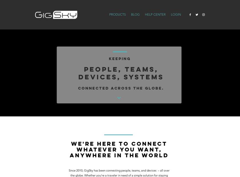 Gigsky Inc homepage screenshot