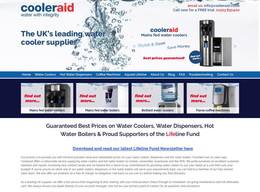 CoolerAid Ltd homepage screenshot