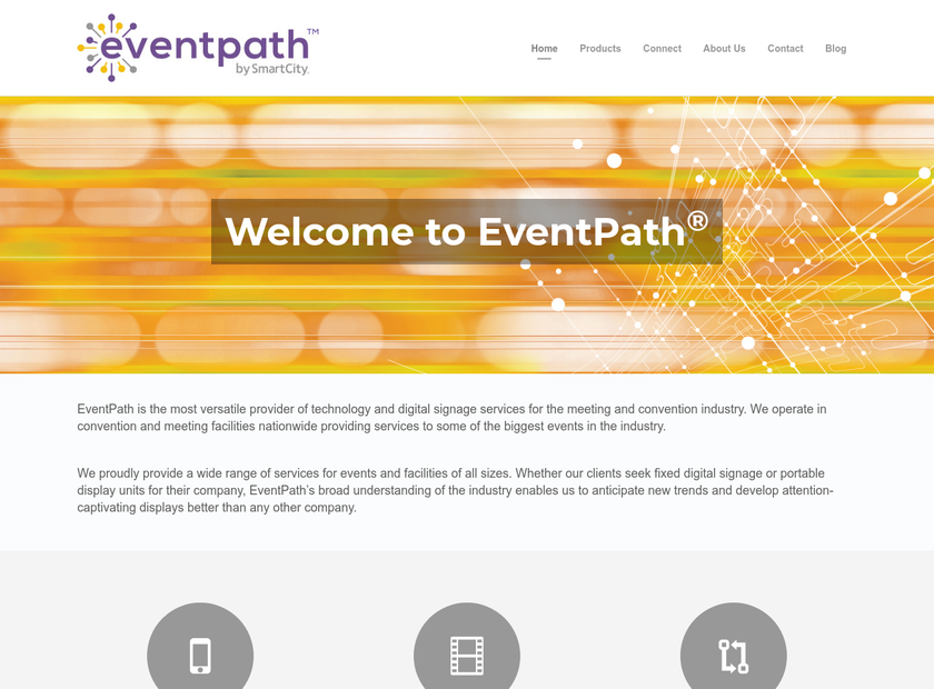 EventPath homepage screenshot