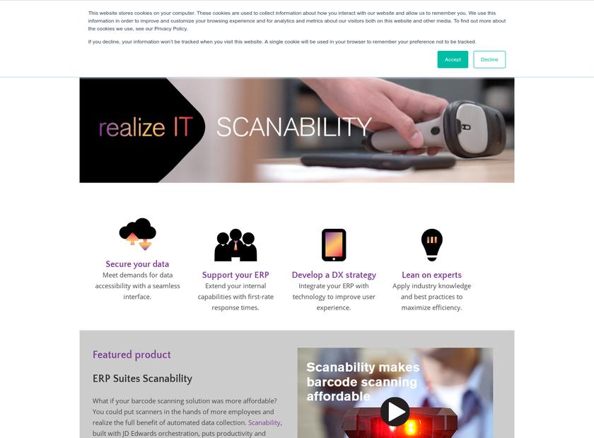 ERP Suites homepage screenshot