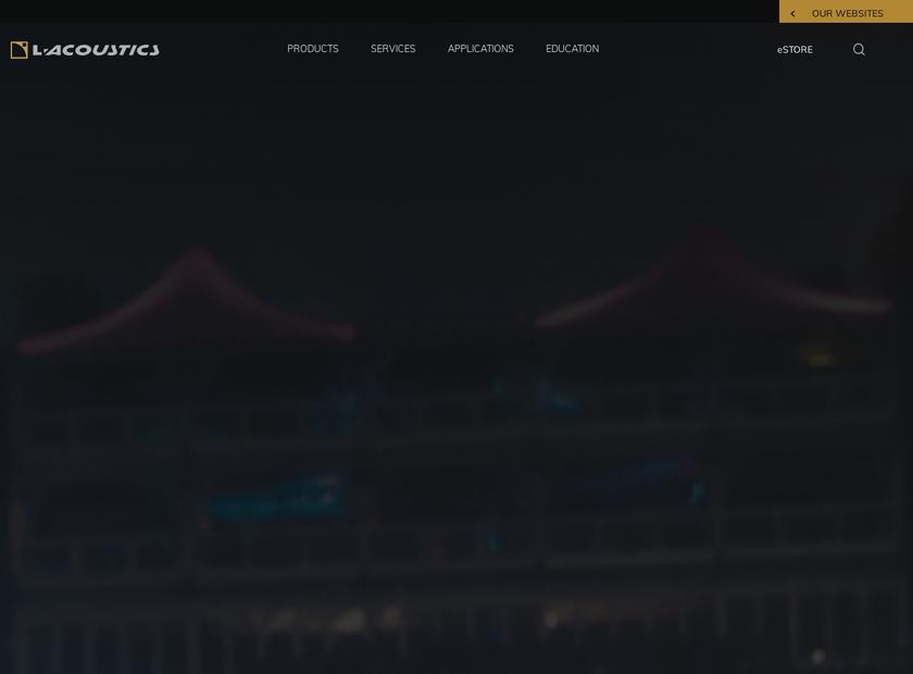 L-Acoustics Inc homepage screenshot