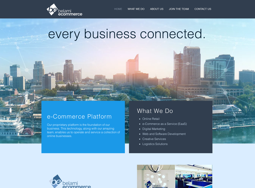 Belami Inc homepage screenshot