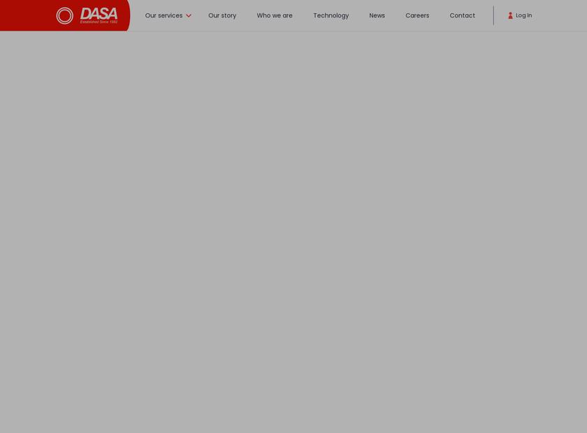 DASA Ltd homepage screenshot