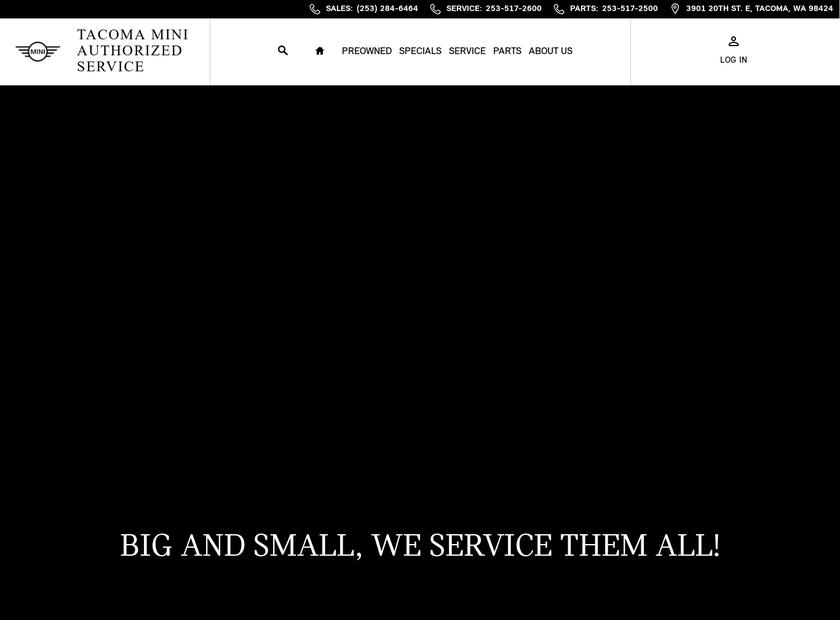 Northwest MINI homepage screenshot