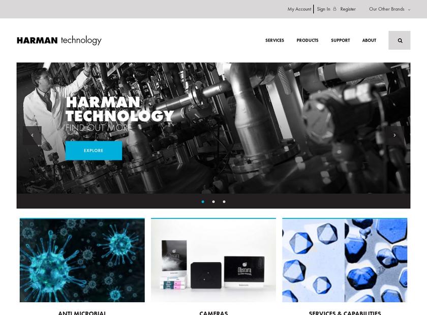 HARMAN Technology Ltd homepage screenshot