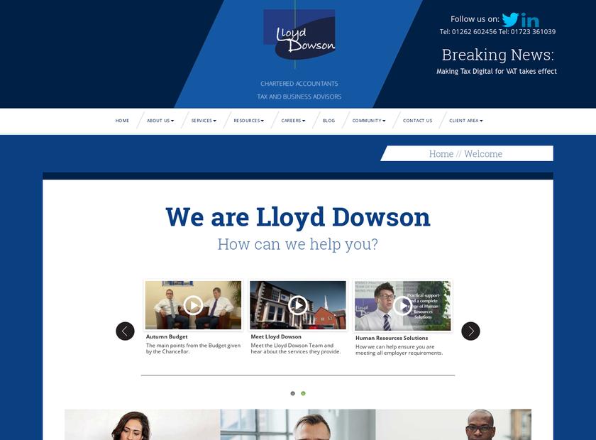 Lloyd Dowson Limited homepage screenshot