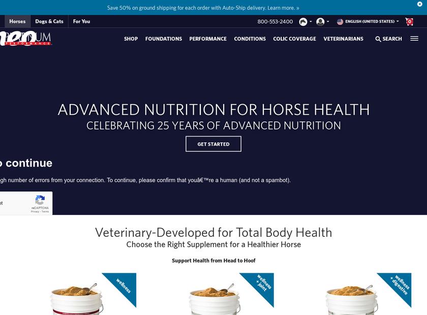 Platinum Performance Inc homepage screenshot