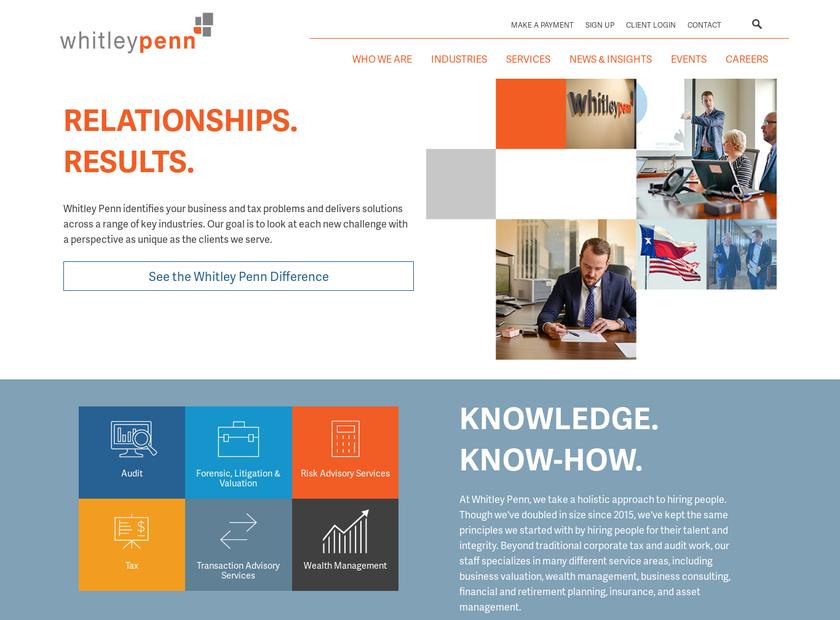 Whitley Penn LLP homepage screenshot