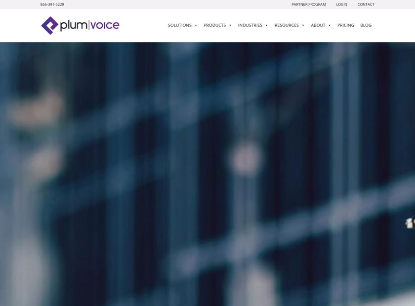 The Plum Group Inc homepage screenshot