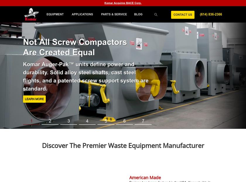 Komar Industries Inc homepage screenshot