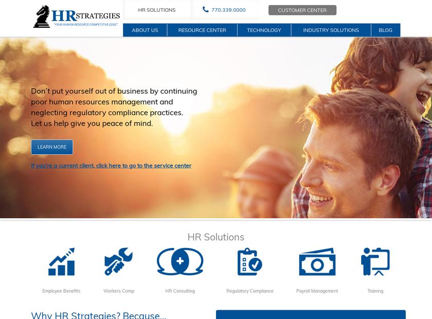 HR Strategies Company homepage screenshot