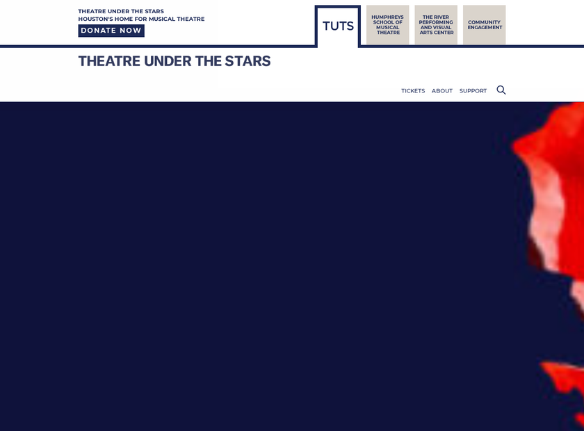 TUTS homepage screenshot