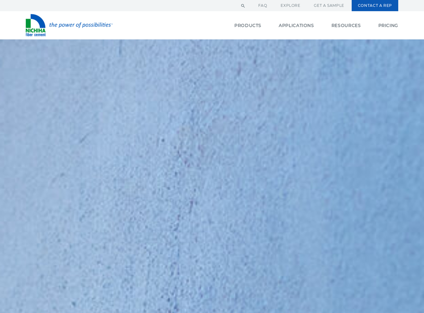 Nichiha Corporation homepage screenshot