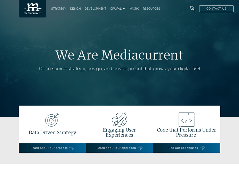 Mediacurrent LLC homepage screenshot