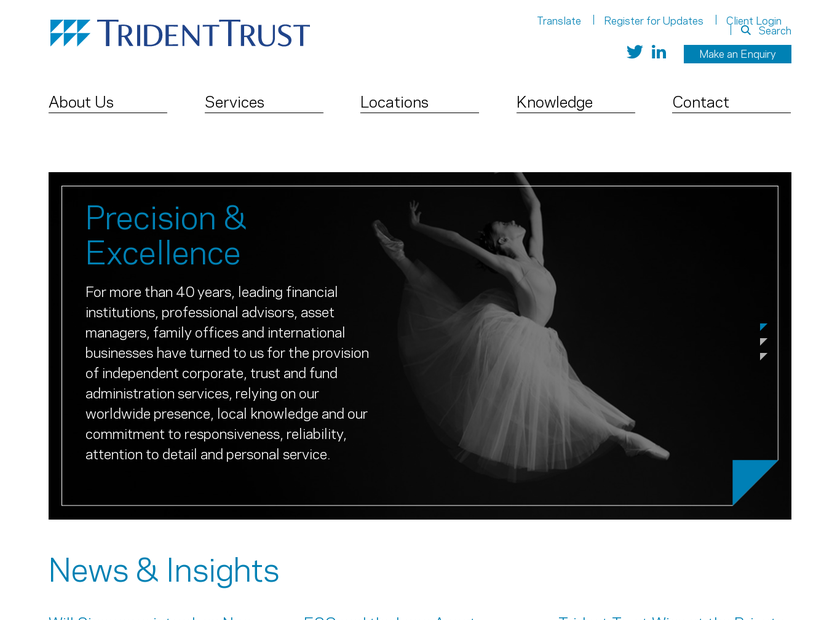 Trident Trust Company Limited homepage screenshot